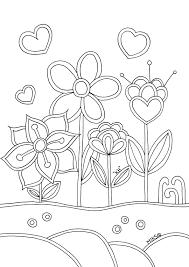 Verse Kleurplaten Bloemen En Hartjes Krijg Duizenden Kleurenfotos