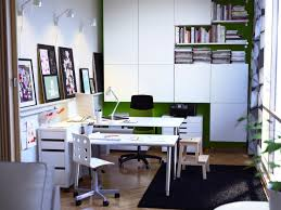 modern small office design. Modern Small Office Design With Minimalist Furniture Using White Computer Desk And Chair Made From Wooden G