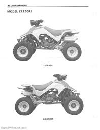 1987 1992 suzuki lt250r quad racer atv service manual Lt250r Wiring Diagram Lt250r Wiring Diagram #45 86 lt250r wiring diagram