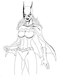 Small Picture Free Printable Batgirl Coloring Pages For Kids