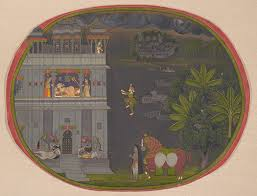 nineteenth century court arts in india  essay  heilbrunn  escapade at night a nobleman climbs a rope to visit his lover