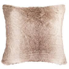 Safavieh Luxe Sheen Square Throw Pillow in Coco