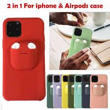 2 Trong 1 Tai Nghe Không Dây Bộ Bảo Vệ Cho iPhone 11/11 Pro/11 Pro Max Cho  AirPods Chống Sốc chất Liệu TPU + PC Lưng Điện Thoại Ốp Lưng