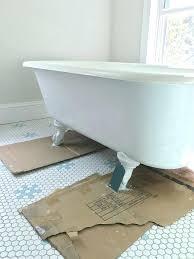 clawfoot tub refinishing kit wonderful how to refinish a nasty old tub in tub refinishing ordinary