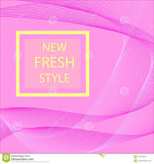 Web Design Sample Text Abstract Modern Line Wave Designed On Pink Background With