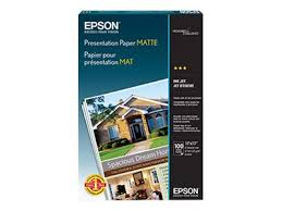 <b>EPSON</b> : <b>coated paper</b>, photo paper - Ledger B Size (11 in x 17 in) - 10