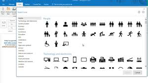 microsoft word icon how to insert and edit icons in microsoft office 365 youtube