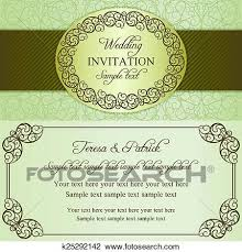 Baroque Wedding Invitations Clipart Of Baroque Wedding Invitation Brown And Beige K25292142