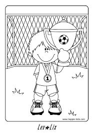 Kleurplaat Voetbal Einde Schooljaar Voetbal Knutselen Voetbal
