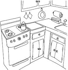 Small Picture Simple Kitchen Coloring Pages Simple Kitchen Coloring Pages
