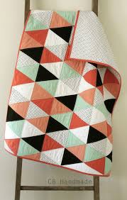 craftyblossom: a coral and mint isosceles quilt. & a coral and mint isosceles quilt. Adamdwight.com