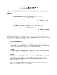 Free Loan Agreement template Ms Word Default Template Free Loan Agreement Personal 65