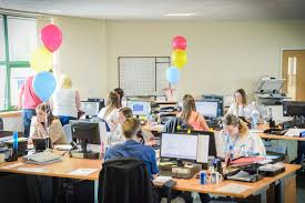 decorated office. We Decorated The Office With Handepay Coloured Balloons To Celebrate Our  Tenth Birthday - U