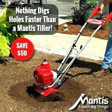 garden way tillers garden way tillers mantis 2 cycle plus tiller cultivator at home depot