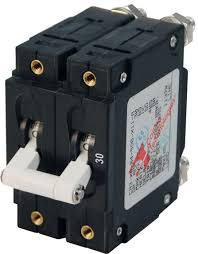 c series white toggle circuit breaker double pole 30 amp blue product image