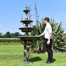 cast aluminium mermaid water fountain