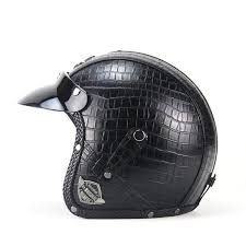 Voss 3 4 Open Face Vintage Motorcycle Helmets With Goggle