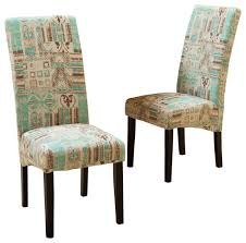 india geometric fabric dining chairs set of 2 contemporary with regard to amazing property teal dining chair plan