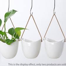 2pcs wall planters white ceramic plant