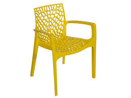 outdoor cafe chairs. Gruvyer Chair -Yellow Outdoor Cafe Chairs