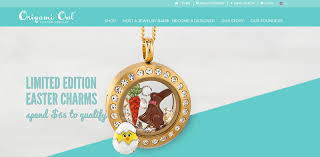 origami owl screenshot showing one of the living lockets with various easter charms