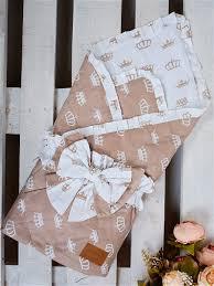 <b>Одеяло на выписку AmaroBaby</b> BUTTERFLY (Роялти коричневый ...