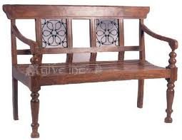 Chairs Antique Wooden Bench T19
