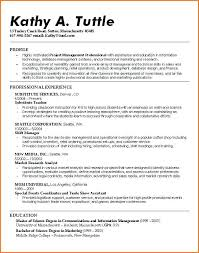 Resumes For Recent College Grads Excellent Resume For Recent