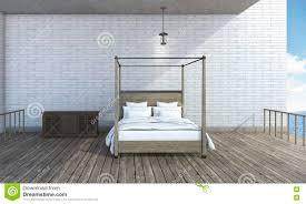 Outdoor Bedroom 3d Rendering Semi Outdoor Bedroom Near Beautiful Sea Stock