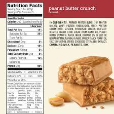 premier protein bar peanut er crunch 30g protein 5 ct walmart
