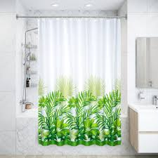 Штора для ванны Tropica, <b>180х200</b> см, полиэстер, цвет белый ...