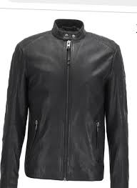 new hugo boss orange leather jacket