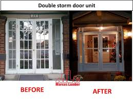 double storm doors. This Double Door Unit Used The French Conversion Kit Made By Larson Manufacturing. Storm Doors