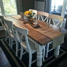 farmhouse style dining table centerpieces chairs room for with farm prepare ro