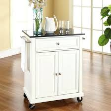 white kitchen cart with stainless steel top granite and locking casters wheels 2