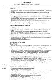Business Change Manager Resume Samples Velvet Jobs