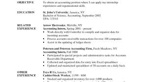 Sample Resume Objective Entry Level Best Of Example Resumees For Entry Level Jobs Sample Accounting Samples