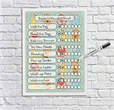 Kids Reward Chart Monsters Kids Reusable Chore Chart Weekly Schedule Behaviour Chart For Boys And Girls Dry Erase Planner Dry Wipeboard