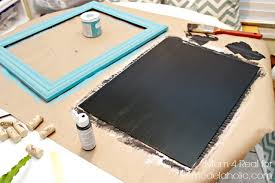 thrifted frame turned chalkboard super easy project