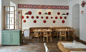 decoration ideas for restaurant restaurant wall decor ideas decorating vintage cabinet rustic wood chairs red wall