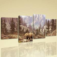 bear canvas wall art