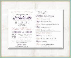 Bachelorette Party Itinerary Template Magdalene Project Org