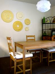 rustic dining room art. Rustic Dining Room Design With Ravishing Hello Hue Ceiling Wall Art Medallions, Different Kind Of Yellow Colors, I