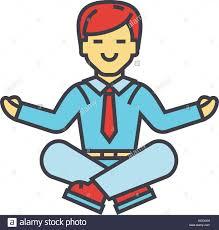 meditation businessman office. Businessman Sitting In Yoga Pose, Business Meditation, Corporate Office Worker Relaxation Concept Meditation T