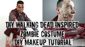 diy zombie make up walking dead inspired