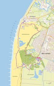 kaart van duinen bij Den Helder