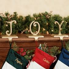 christmas stocking hooks.  Hooks J O Y Stocking Holder Set Gold Intended Christmas Hooks E