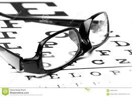 Lying Eye Chart Eye Glasses Lying On Snellen Chart Stock Photo Image Of