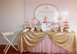 pink gold and white baby shower decorations pink and gray