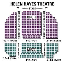 Hayes Theater Seating Chart Helen Hayes Theatre Seating Chart